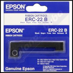 Epson ERC-22B Black Ink Original POS Printer Ribbon C43S015358 (6 Million Strikes) for Epson M-180, M-181, M-182, M-183, M-185, M-186, M-190, M-191, M-192, M-195, M-930