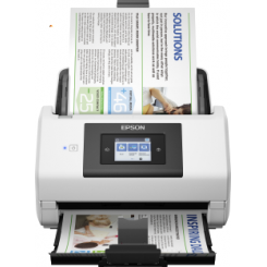 Epson WorkForce DS-780N - Document scanner - Duplex - A4/Legal - 600 dpi x 600 dpi - up to 45 ppm (mono) / up to 45 ppm (colour) - ADF (100 sheets) - up to 5000 scans per day - USB 3.0, Gigabit LAN