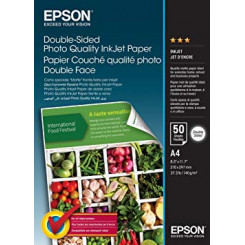 Epson Double-Sided Matte Photo Quality Inkjet Paper - A4 (210 x 297 mm) - 140 g/m² - 50 sheets
