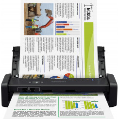 Epson WorkForce DS-360W - Document scanner - Duplex - A4 - 600 dpi x 600 dpi - up to 25 ppm (mono) / up to 25 ppm (colour) - ADF (20 sheets) - up to 500 scans per day - USB 3.0, Wi-Fi(n)