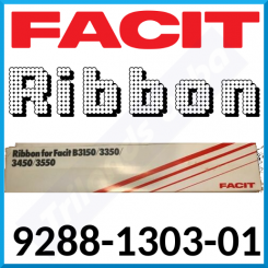 "Facit 9288-1303-01 (2-Pack) Black Ink Original Nylon Ribbon (0.5"" Width) for B3150, B3350, B3450, B3550 - Special Clearance Price"