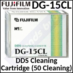 Fujifilm DG15CL DDS Cleaning Tape Cartridge - 4mm Cleaning Cartridge for DAT / DDS Drives - (50 Cleanings)
