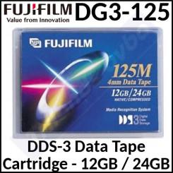 Fujifilm DG3-125 DDS-3 Data Tape 12 GB / 24 GB Cartridge (125 Meters)