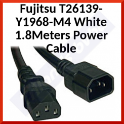 Fujitsu T26139-Y1968-M4 White 1.8Meters Power Cable