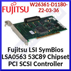 Fujitsu LSI SymBios LSA0563 53C89 Chipset PCI SCSI Controller (W26361-D1180-Z2-03-36) for SCSI Based Backup devices for Windows & Linux