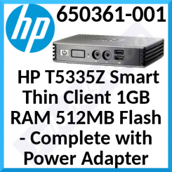 HP T5335Z Smart Thin Client 1 GB RAM, 512MB Flash SSD (650361-001) - Complete with Power Adapter - Refurbished