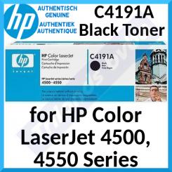 HP C4191A Black Original LaserJet Toner Cartridge (9000 Pages) for HP Color LaserJet 4500 Series, Color LaserJet 4550 Series - Special Clearance Price