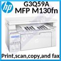 HP LaserJet Pro MFP M130fn Multifunction Monochrome Laser Printer (G3Q59A)