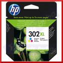 HP 302XL Tri-Color Original High Capacity Ink Cartridge F6U67AE (330 Pages)