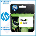 HP 364XL Yellow High Capacity Original Ink Cartridge CB325EE (750 Pages) - Outdated Sealed Original HP Pack