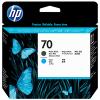 HP 70 Matte Black + Cyan DesignJet Original Printhead (C9404A) for HP DesignJet Z2100, Z2100gp, Z3100, Z3100gp, Z3100ps gp, Z3200, Z3200ps, Z5200ps