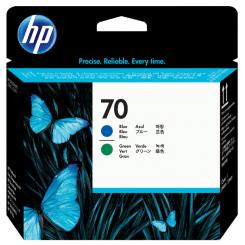 HP 70 Blue + Green Original Printhead C9408A for HP DesignJet Z2100, Z2100gp, Z3100, Z3100gp, Z3100ps gp, Z3200, Z3200ps, Z5200ps