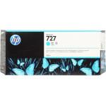 HP 727 High Yield Cyan Original Ink Cartridge F9J76A (300 Ml) for HP DesignJet ePrinters T1500, T1500ps, T2500, T2500ps, T920, T920ps