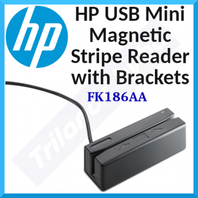 HP POS Customer Credit Card Magnetic Stripe Reader FK186AA - Usable Unit (POS) USB Mini Magnetic Stripe Reader with Brackets for HP Point of Sale Desktops, HP Business Desktop PCs, RP5800, RP5700, AP5000, RP3000