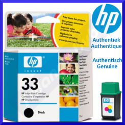 HP 33 Black Original Ink Cartridge 51633ME (600 Pages) for HP Deskjet 320, 320se, 340, 340cbi, 340cm, 340cv, 340se