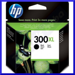 HP 300XL Black High Capacity Original Ink Cartridge CC641EE (600 Pages)