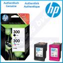 HP 300 (2-Pack) 300 Black + 300 TriColor Original Ink Cartridges CN637EE (200 Pages Black + 165 Pages Color)