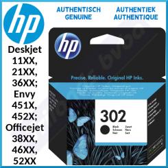 HP 302 Black Original Ink Cartridge F6U66AE (190 Pages) for HP Deskjet 11XX, 21XX, 36XX - Envy 451X, 452X - Officejet 38XX, 46XX, 52XX