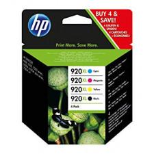 HP 920XL (4-Pack) High Yield Black / Cyan / Magenta / Yellow Officejet Original Ink Cartridges C2N92AE for HP Officejet 6000, 6500, 7000, 7500 Series