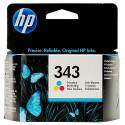 HP 343 Tri-Color Original Ink Cartridge C8766EE (260 Pages) for HP OfficeJet 6205, 6208Aio, 6210Aio, 6215Aio, 7205Aio, 7210Aio, 7213Aio, 7215Aio, 7218Aio, 7310Aio, 7313Aio, 7408Aio, 7410Aio
