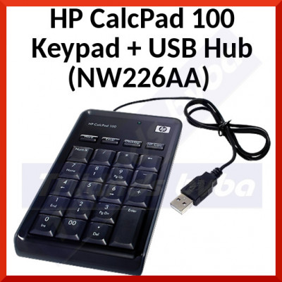 HP CalcPad 100 Keypad with intergrated USB Hub and Calculator (NW226AA)