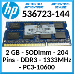 HP 2 GB Notebook DDR3 SODimm Genuine Memory 536723-144 - for HP Envy, Pavillion Notebooks