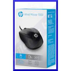 HP 1000 Mouse - USB - 3 Button(s) - Black - Cable - 1200 dpi - Scroll Wheel - Symmetrical