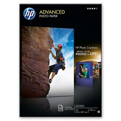 HP Advanced Glossy Inkjet Photo Paper Q5456A - (A4) 210mm  X 297mm - 250 Grams/M2 - 25 Sheets Pack