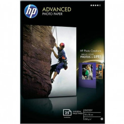 HP Advanced Glossy InkJet Photo Paper Q8691A -100 mm X 150 mm Borderless Printing - 250 grams/M2 - 25 Sheets Pack