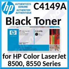 HP C4149A Black Original LaserJet Toner Cartridge (17000 Pages) for HP Color LaserJet 8500 Series, Color LaserJet 8550 Series