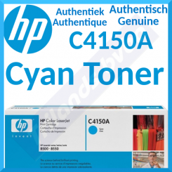 HP C4150A Cyan Original LaserJet Toner Cartridge (8500 Pages) for HP Color LaserJet 8500 Series, Color LaserJet 8550 Series