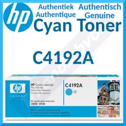 HP C4192A Cyan Original LaserJet Toner Cartridge (6000 Pages) for HP Color LaserJet 4500 Series, Color LaserJet 4550 Series
