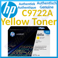HP 641A Yellow Original LaserJet Toner Cartridge C9722A (8000 Pages) for HP Color LaserJet 4600, 4600dn, 4600dtn, 4600hdn, 4600n, 4610n, 4650, 4650dn, 4650dtn, 4650hdn, 4650n