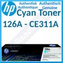 HP 126A Cyan Original LaserJet Toner Cartridge CE311A (1000 Pages) for HP Color LaserJet Pro CP1025, CP1025nw - LaserJet Pro 100 MFP M175a, M175nw - TopShot LaserJet Pro M275 MFP