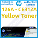 HP 126A Yellow Original LaserJet Toner Cartridge CE312A (1000 Pages) for HP Color LaserJet Pro CP1025, CP1025nw - LaserJet Pro 100 MFP M175a, M175nw - TopShot LaserJet Pro M275 MFP