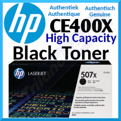 HP 507X Black High Yield Original LaserJet Toner Cartridge CE400X (11000 Pages)