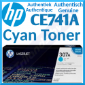 HP 307A Cyan Original LaserJet Toner Cartridge CE741A (7300 Pages) for HP Color LaserJet Professional CP5225, CP5225dn, CP5225n