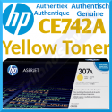 HP 307A Yellow Original LaserJet Toner Cartridge CE742A (7300 Pages) for HP Color LaserJet Professional CP5225, CP5225dn, CP5225n