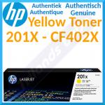 HP 201X High Yield Yellow Original LaserJet Toner Cartridge CF402X (2300 Pages) for HP Color LaserJet Pro M252dn, M252dw, M252n, M277dw, M277n, MFP M274n, MFP M277dw