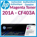 HP 201A Magenta Original LaserJet Toner Cartridge CF403A (1400 Pages) for HP Color LaserJet M277dn, Color LaserJet Pro M252dn, M252dw, M252n, MFP M274n, MFP M277dw, MFP M277n