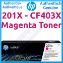 HP 201X Magenta High Capacity Original LaserJet Toner Cartridge CF403X (2300 Pages) for HP Color LaserJet M277dn, Color LaserJet Pro M252dn, M252dw, M252n, MFP M274n, MFP M277dw, MFP M277n