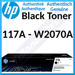 HP 117A Black Original Toner Cartridge W2070A (1000 Pages) for HP Color Laser 150a, 150nw, MFP 178nw, MFP 178nwg, MFP 179fnw