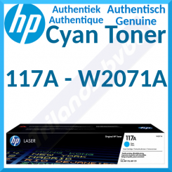 HP 117A Cyan Original Toner Cartridge W2071A (700 Pages) for HP Color Laser 150a, 150nw, MFP 178nw, MFP 178nwg, MFP 179fnw