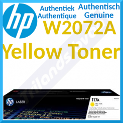 HP 117A Yellow Original Toner Cartridge W2072A (700 Pages) for HP Color Laser 150a, 150nw, MFP 178nw, MFP 178nwg, MFP 179fnw