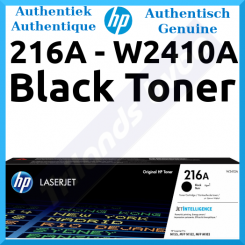 HP 216A Black Original LaserJet Toner Cartridge W2410A (1050 Pages) for HP Color LaserJet Pro MFP M182n, MFP M182nw, MFP M183fw