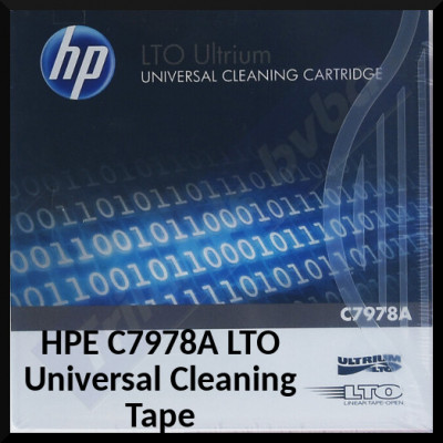 HPE C7978A LTO Universal Cleaning Tape - Ultrium Cleaning Cartridge upto 50 Cleaning