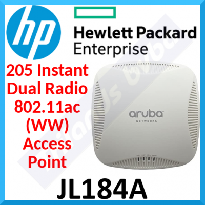 HPE 205 Instant Dual Radio 802.11ac (WW) Access Point (JL184A)