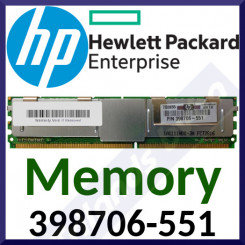 HPE 1 GB DDR2 ECC Memory 398706-551 - 1GB - DDR2 DIMM 240-pin - 667MHZ - PC2-5300 - CL5 - Registered - ECC - in Perfect Working condition - Refurbished