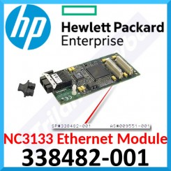 HPE NC3133 Fast Ethernet Module (338482-001) 100 FX upgrade adds 2 Fast Ethernet FX fiber optic ports to NC3134 and NC3131 PCI NIC Adapters