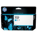 HP 727 Cyan Original Ink Cartridge B3P19A (130 Ml) for HP DesignJet ePrinters T1500, T1500ps, T2500, T2500ps, T920, T920ps